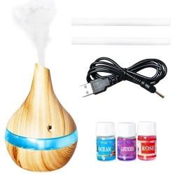 33550506 Ultragarsinis oro drėkintuvas ir jonizatorius su aroma, šviečiantis, 300 ml talpos indas vandeniui