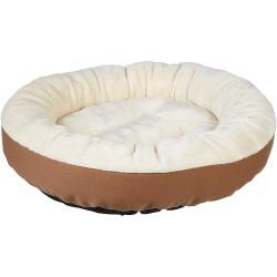 Šuns gultas, 50 x 50 x 20 cm, kreminė, ruda spalvos