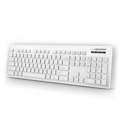 Esperanza EK130W Laidinė, vandeniui atspari USB klaviatūra, Balta