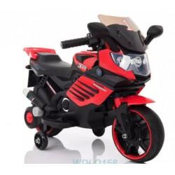 Vaikiškas motociklas su šoniniais ratukais, raudonas LQ158