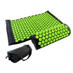 Akupresūros kilimėlio ir pagalvėlės komplektas, juodas su žaliu