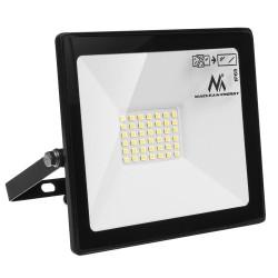 Naświetlacz LED slim 30W, 2400lm Warm White (3000K) Maclean Energy MCE530 WW, IP65, PREMIUM
