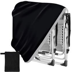 Pokrowiec na krzesło / leżak czarny