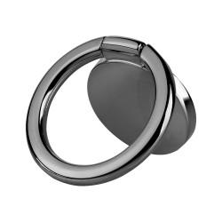 Telefono universalus laikiklis, žiedo tipo, juodas
