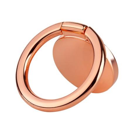 Universalus telefono žiedo laikiklis rožinis auksas