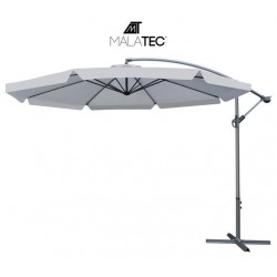 Sodo skėtis su 3,5 m prailginimo ranka - tamsiai pilkas