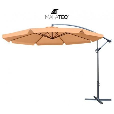Sodo skėtis su 3,5 m prailginimo ranka - rudas