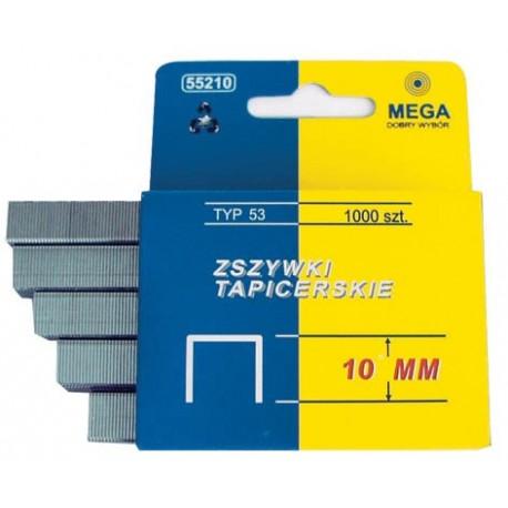 """55210 Sukietintos apmušimo kabės, 53 tipo, ilgis: 10 mm, """"Mega"""""""