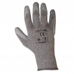 "Rękawice lateks szare l210308p, 12 par, ""8"", ce, lahti"