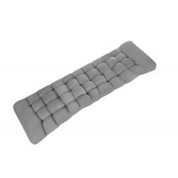 Poduszka pikowana na leżak ogrodowy szara