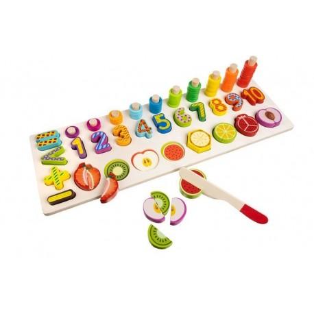 Medinis vaisių ir skaičių žaidimas - rūšiuotojas