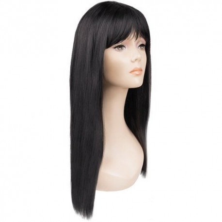 Juodas ilgas perukas moterims P14833