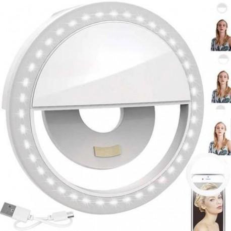 LED žiedinė lemputė asmenukėms