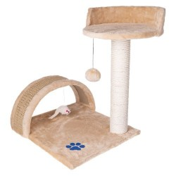 Katės draskyklė - stulpelis, smėlio spalvos