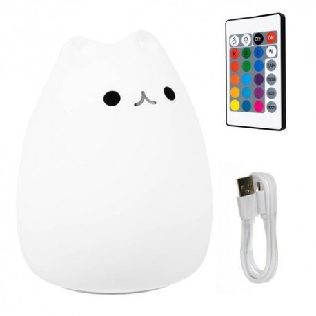 LED naktinė lempa - kačiukas